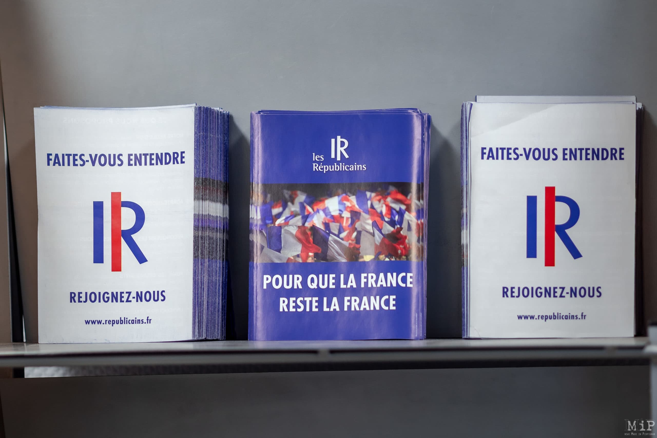 15/04/2021, Perpignan, France, Aurélien Pradié, Stéphane Loda, Régionales Occitanie © Arnaud Le Vu / MiP
