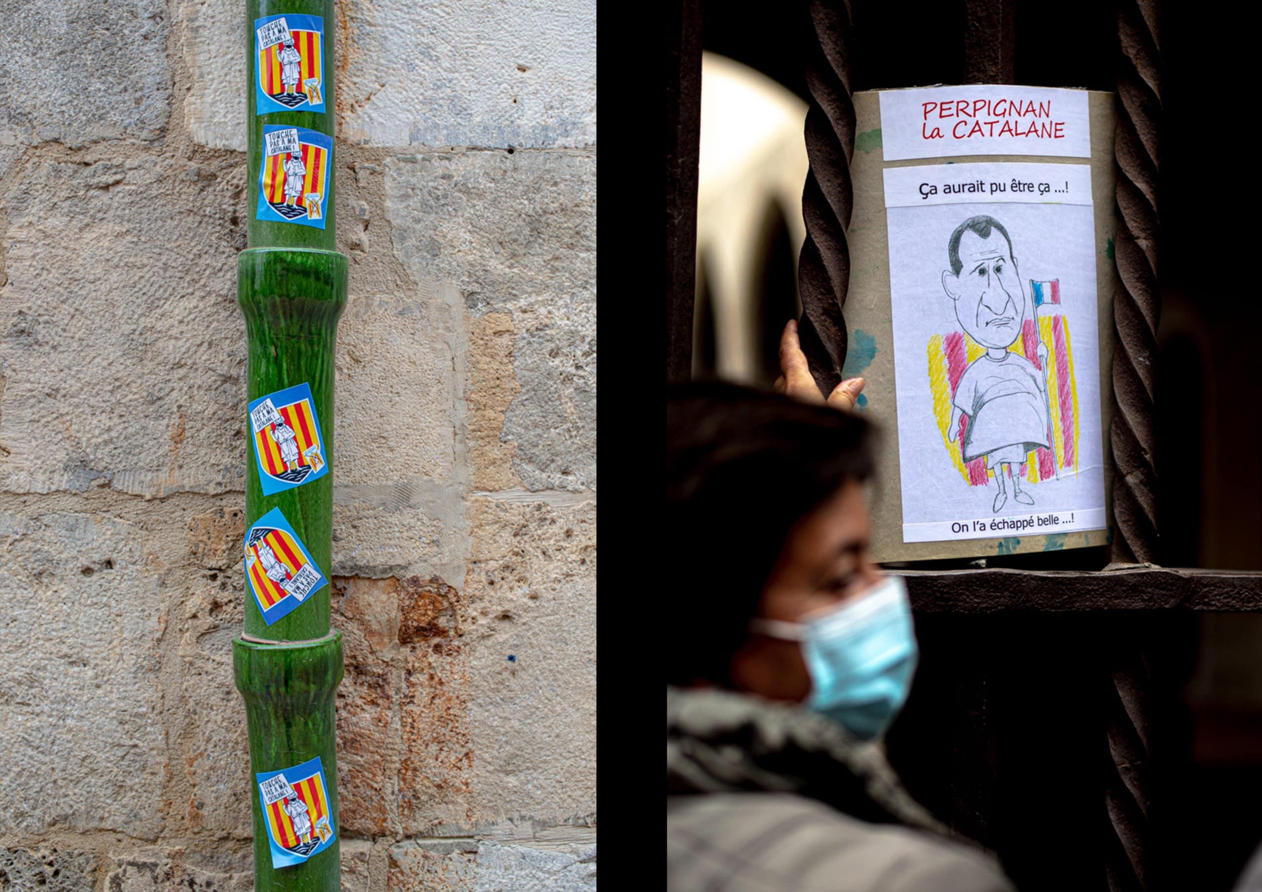Manifestation contre le nouveau logo de Perpignan - Credit Idhir Baha