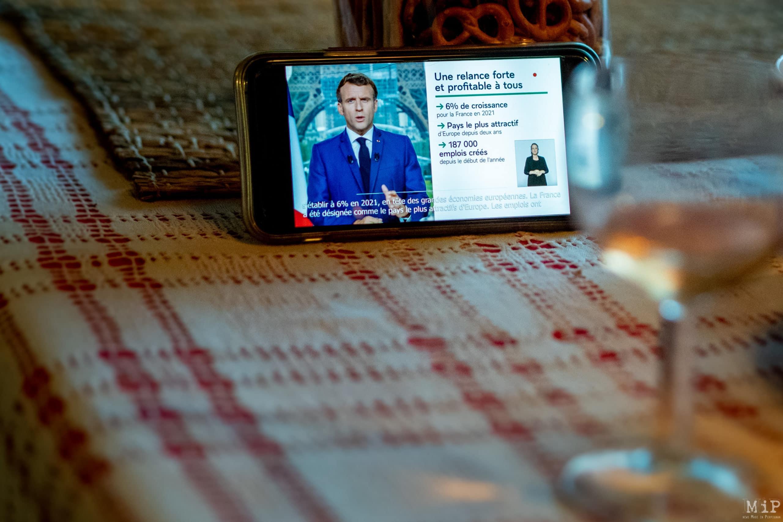 Allocaution Emmanuel Macron du 12 juillet 2021 © Arnaud Le Vu / MiP / HL